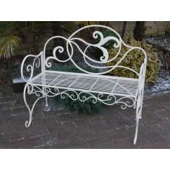 Même un jardin peut devenir romantique avec ce banc en fer forgé de Maison d'un Rêve… !