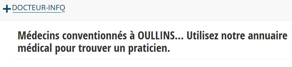 Prenez rapidement rendez-vous avec un médecin à Oullins via l'annuaire Docteur-info.fr